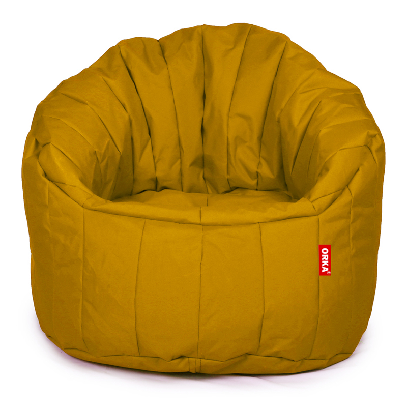 ORKA Classic Big Boss Bean Chair Filled with Beans - Yellow