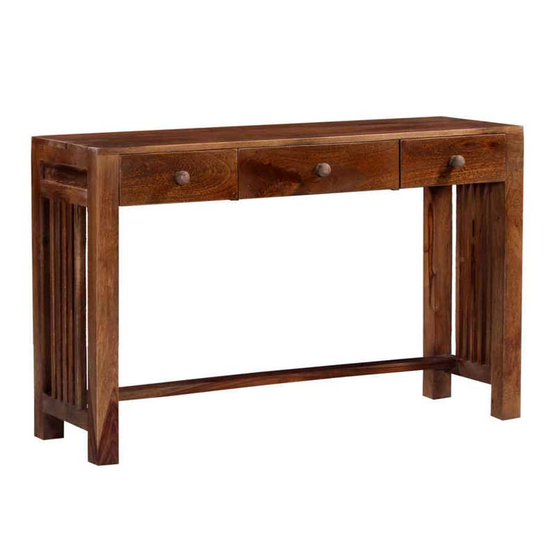 Moorni Solid Wood Multipurpose Table  In Provinical Teak Finish SBA017