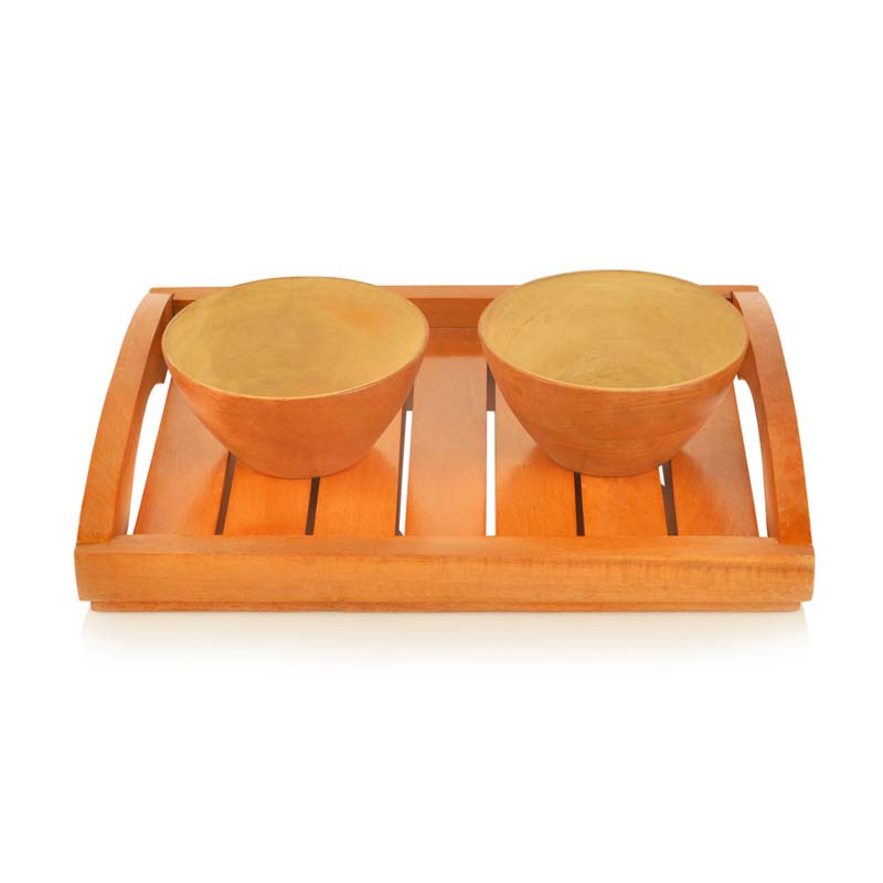 Moorni Bowl Set with Tray Orange