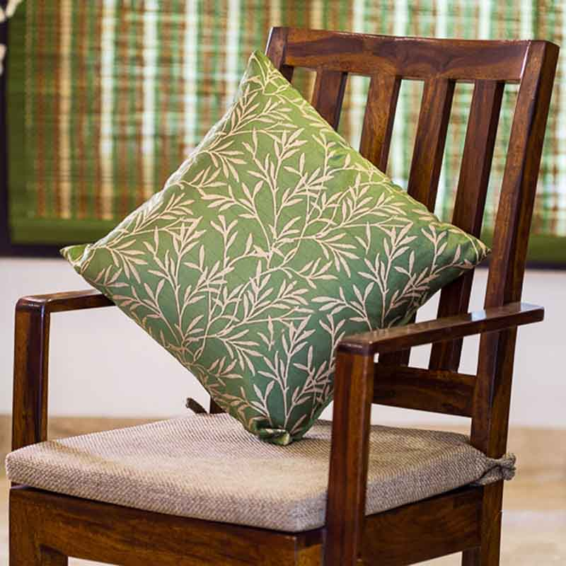 Moorni Handblock Printed Cushion Cover in Silk - Set of 4 - EL-026-218