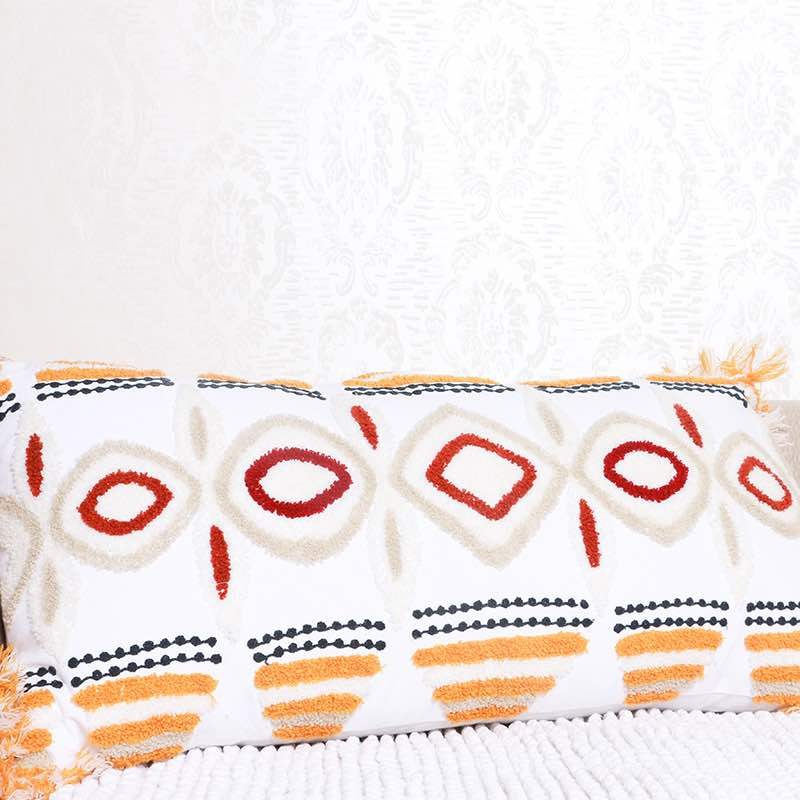 Moorni Cotton Cushion With Embroidery - TT-3593