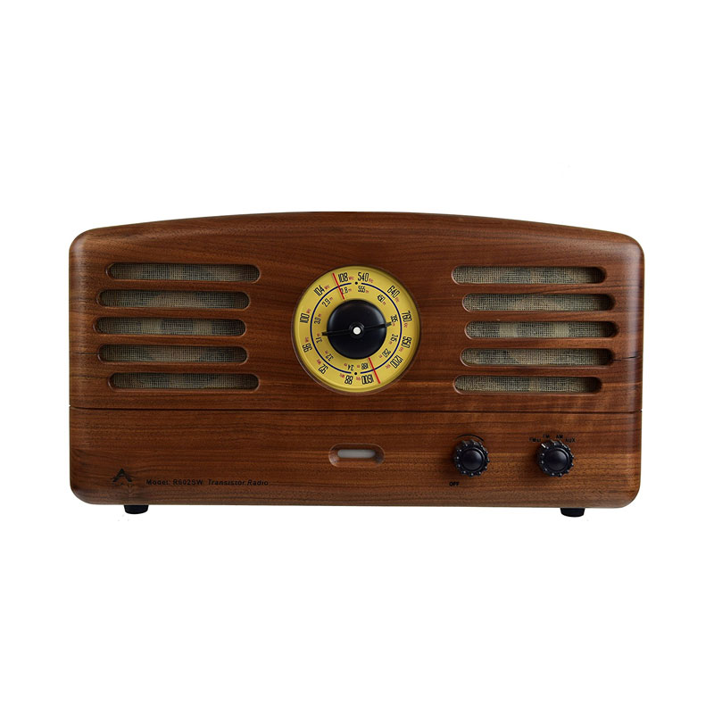Mao King Walnut Wood Bluetooth Speaker MK Radio