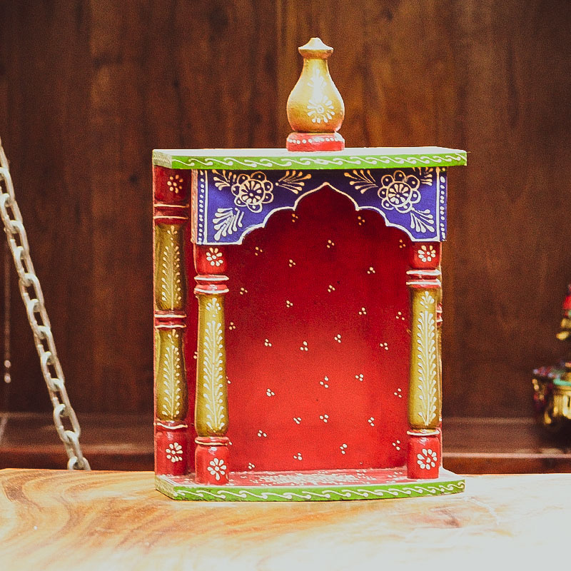 Moorni Small (Wall Mount) Wooden Temple
