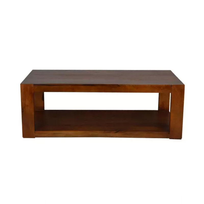 Wooden Table With Storage Brown - MBX-57