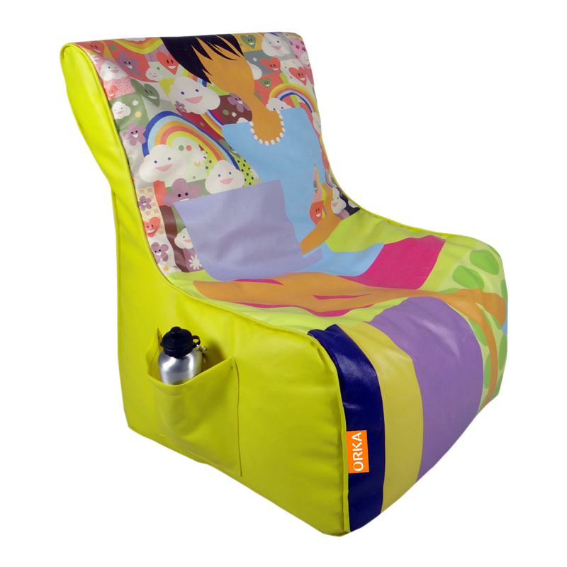 ORKA Digital Printed Bean Chair Filled with Beans - Sleeping Lady