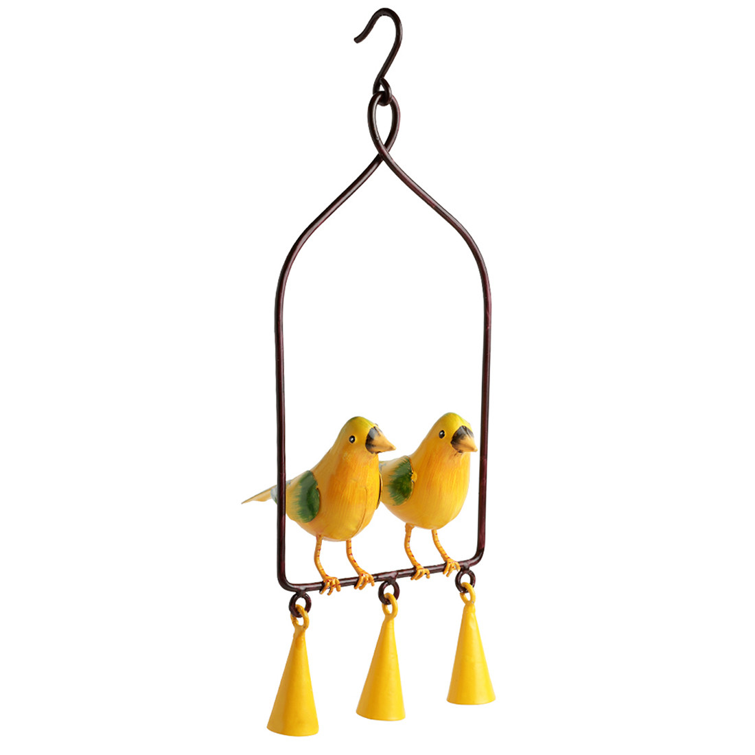 Moorni Cannery Twittery Hand-Painted Decorative Hanging Wind Chime In Metal