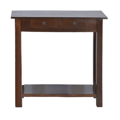 Moorni Real Wood Desk with 2 Drawer
