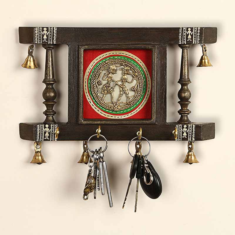 Antique Wooden Carving Key Hook In
