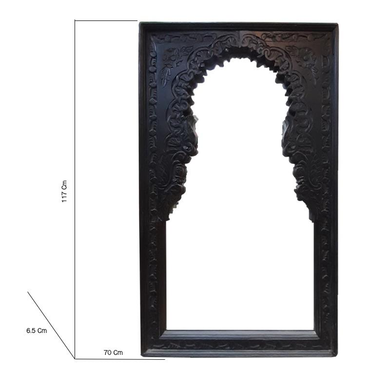 Moorni Large Wall Decor Mirror Natural Brown
