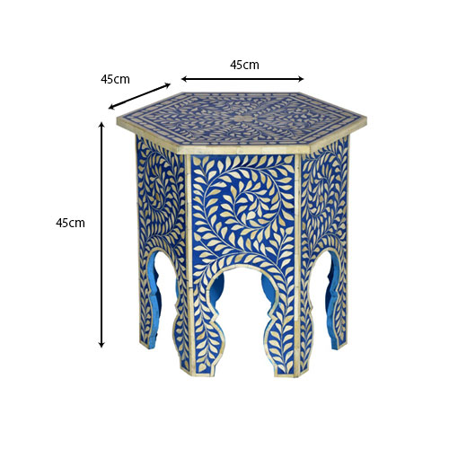 Moorni Real Wood Decorative Inlay Table - MBX-26