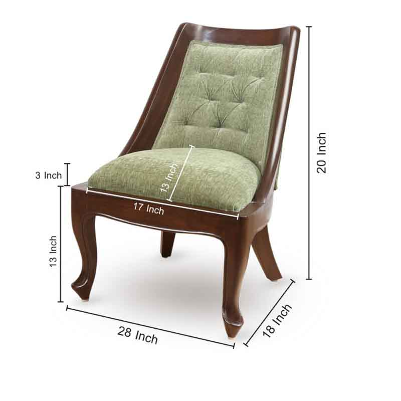 Moorni Teak Wood Comfy Living Cum Bedroom Chair