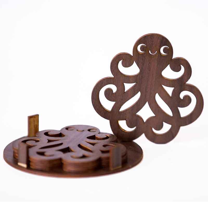Olha-o Octopus Shaped Coasters (Set of 4)