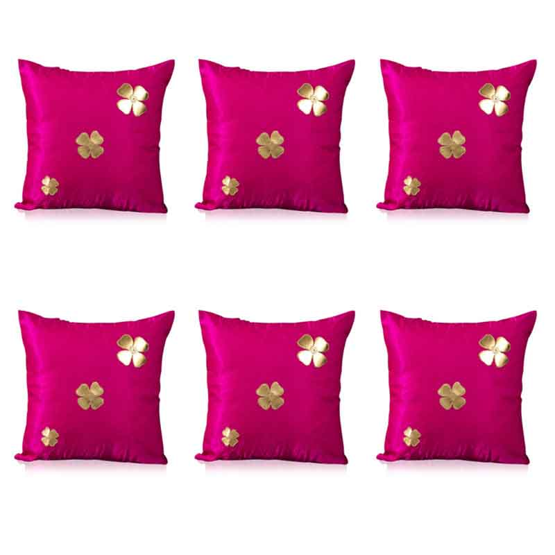 Moorni Pure Silk Cushion Covers - Set of 6 - EL-026-100