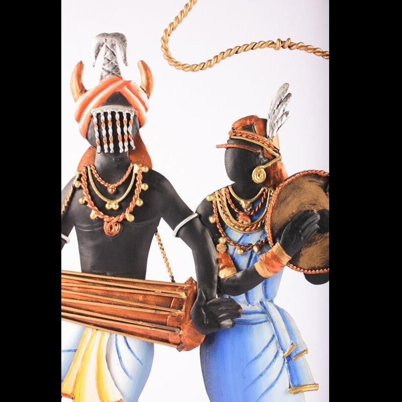 Tribal Art Multi Color Dance Trophy -2