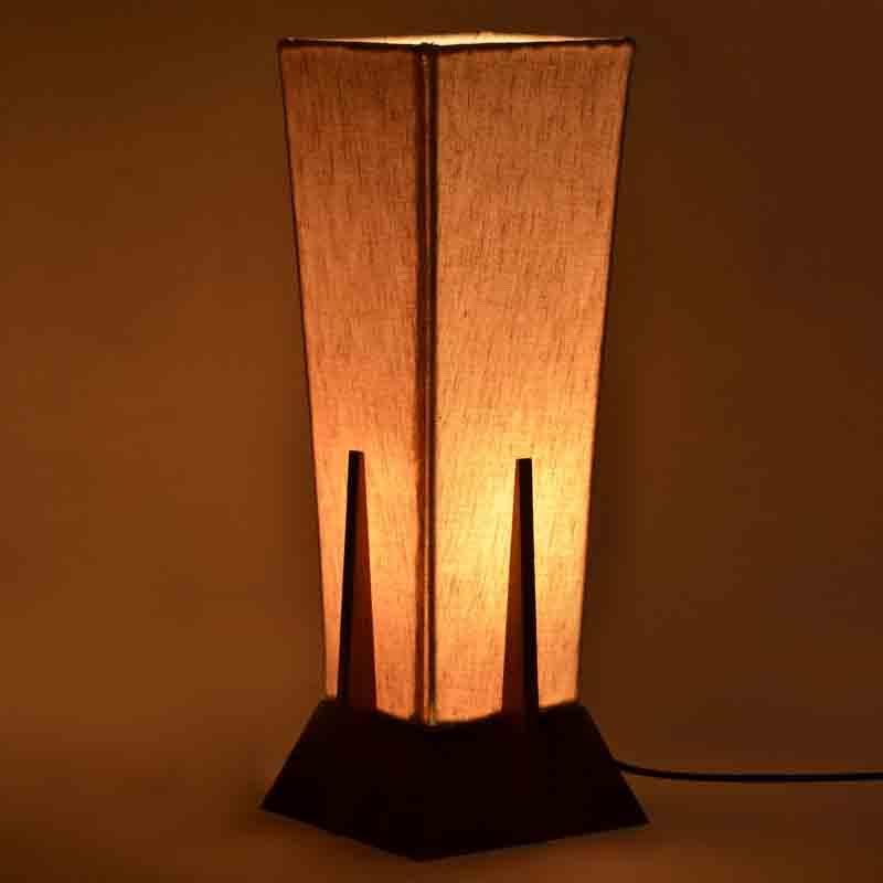 Moorni 14 Inch Wooden Lamp Turqouise Blue - EL-003-061
