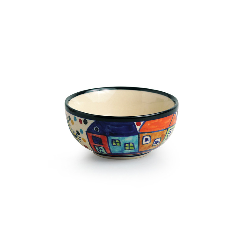 Moorni The Serving Hut Goblets  Hand-Painted Serving Bowls In Ceramic (Set Of 4)