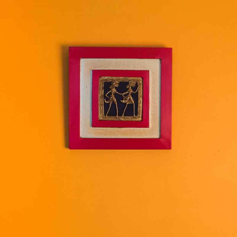 Olha-o Tribe Tribal Figurine Wall Hanging Red
