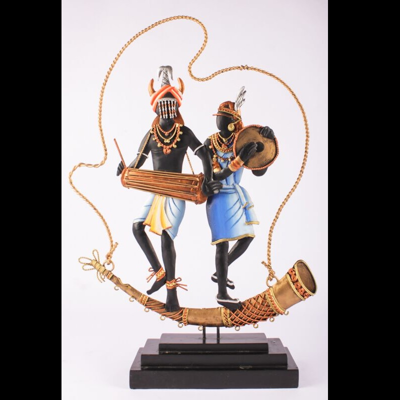 Tribal Art Multi Color Dance Trophy -2