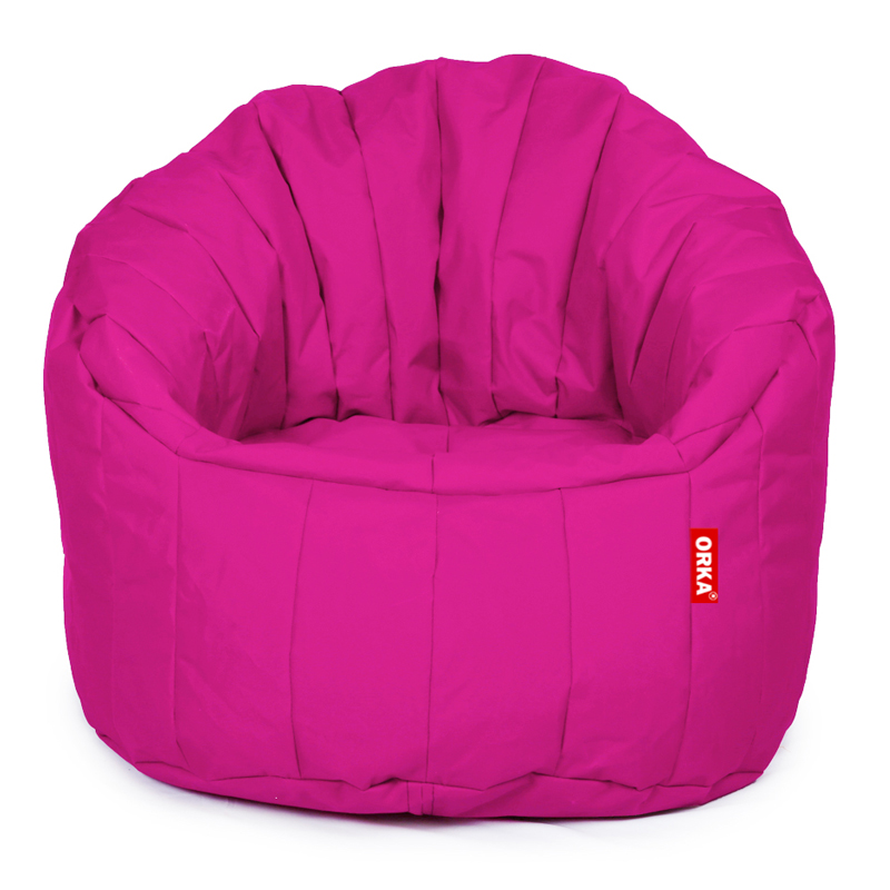 ORKA Classic Big Boss Bean Chair Filled with Beans - Pink