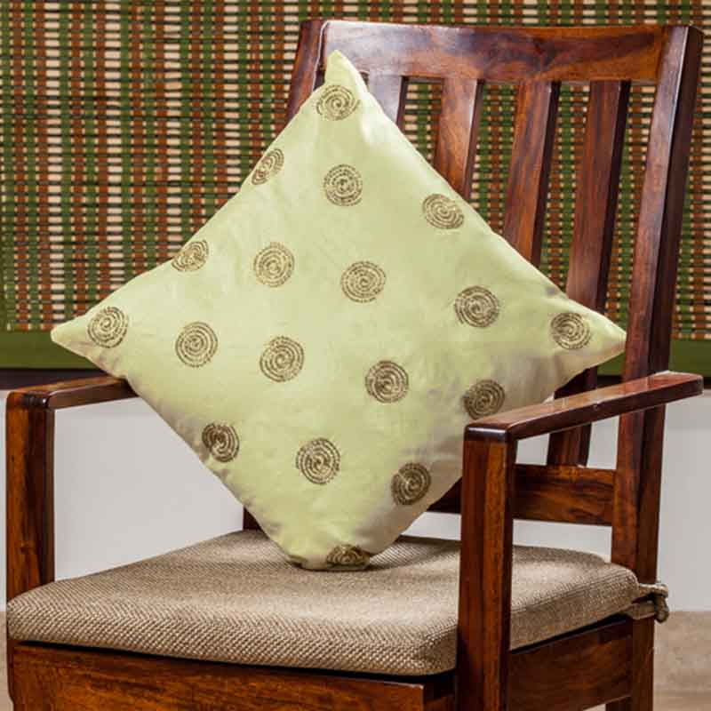 Moorni Hand Embroidered Cushion Cover in Silk - Set of 5 - EL-026-310