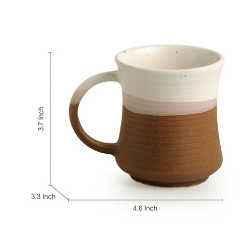 Moorni A Glazed Cosmos Noodle Mugs Dual Glazed Studio Pottery In Ceramic (Set Of 2)