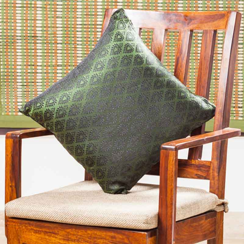 Moorni Handwoven Cushion Cover in Silk - Set of 6 - EL-026-326