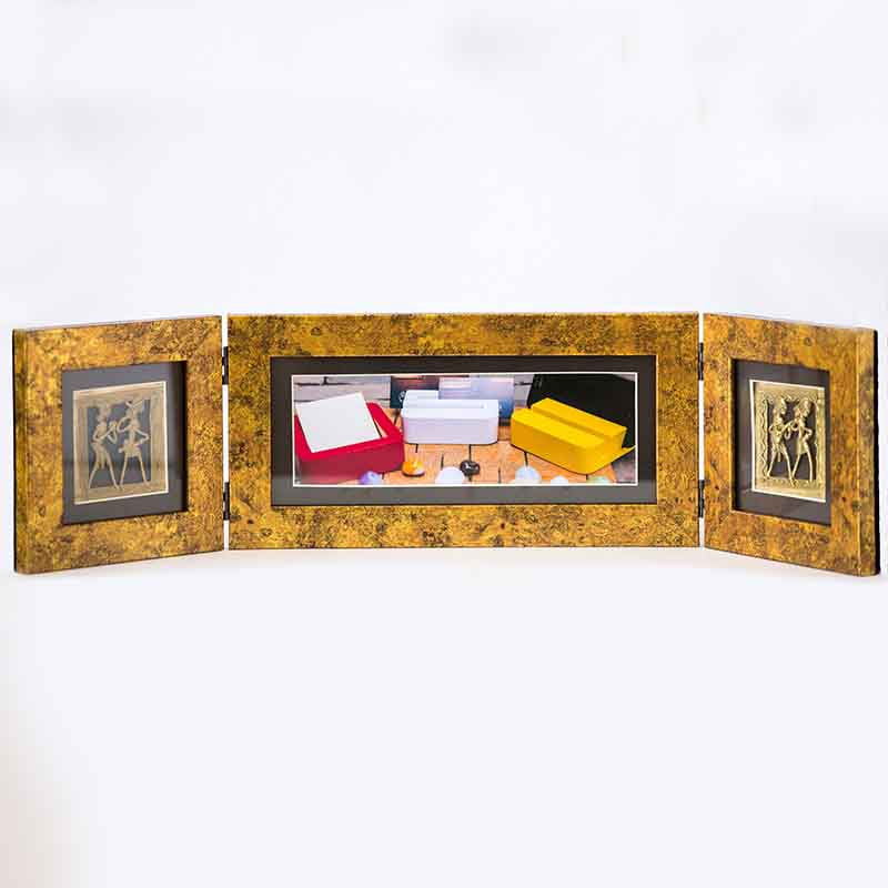 Olha-o Photo Frame Two Folds Antique