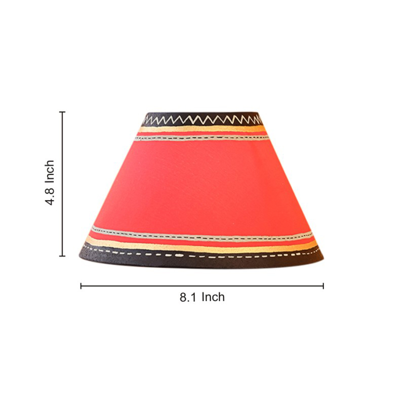 Moorni Handcrafted Table Lamp with Warli and Dhokra Art