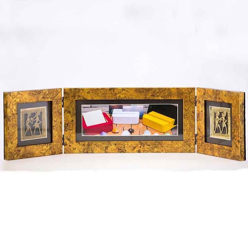 Olha-o Photo Frame Two Folds Antique