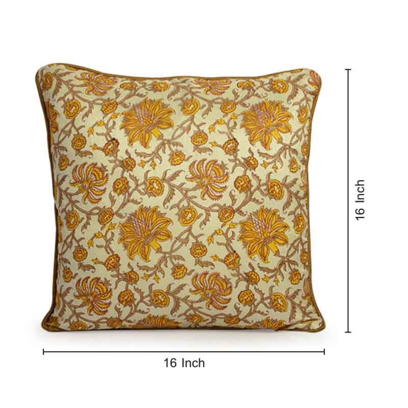 Moorni Hand Block Printing Cushion Cover in Cotton - Set of 6 - EL-026-330