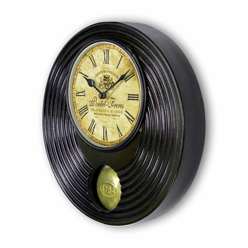 Moorni Pendulum Of Time Heritage Wall Clock With Wood Carving - EL-001-049