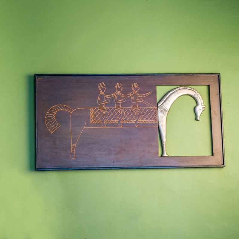 Olha-o Tribe Wooden Frame Camel