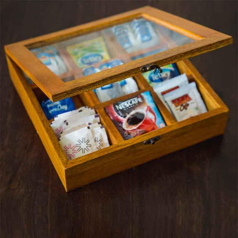 Olha-o Tea Box with Nine Compartments