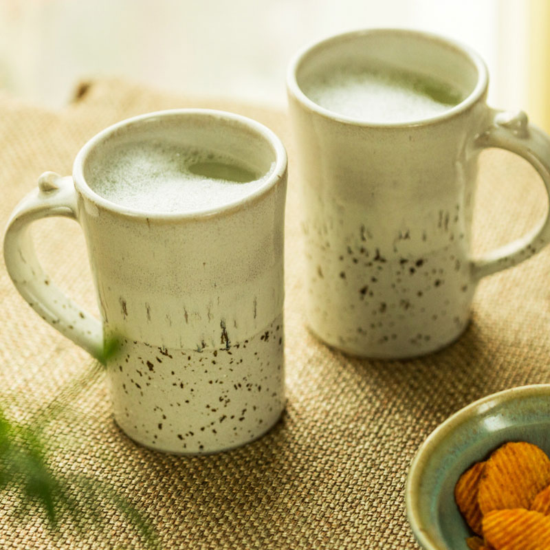 Moorni Mugfuls Of Love Ceramic Beer & Milk Mug Set (Studio Pottery) EL-005-294