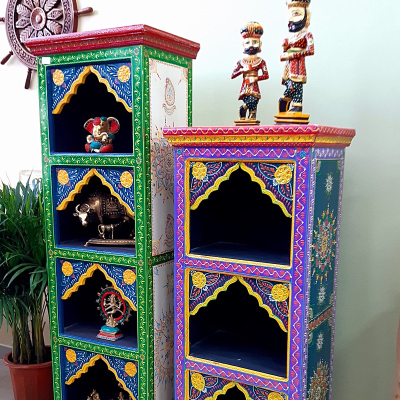 Moorni Rajasthani Style Wooden Home Temple Combo