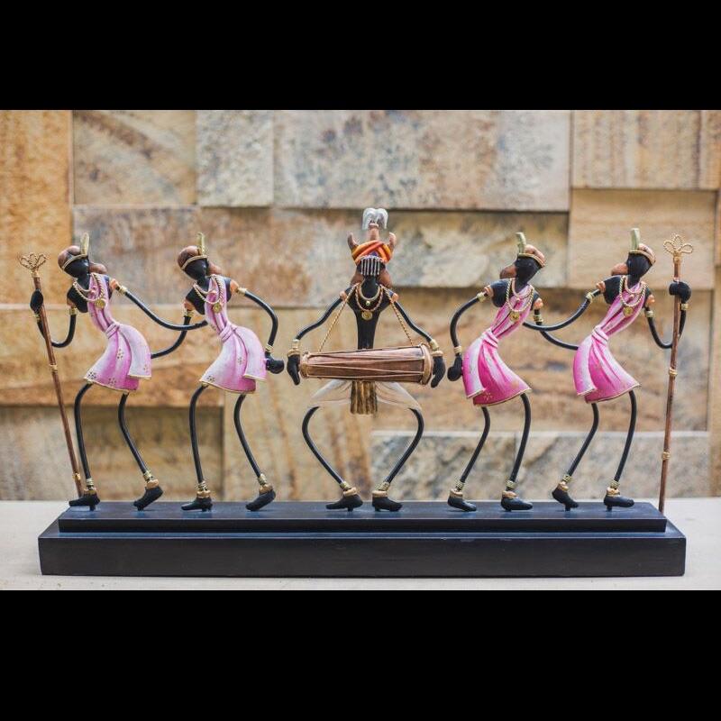 Tribal Art Multi Color Dance Trophy -4