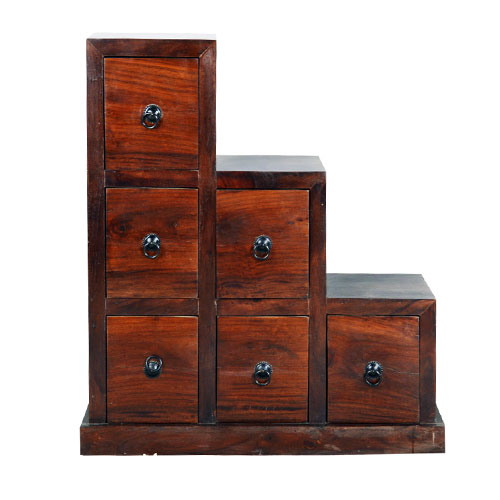 Moorni Real Sheesham Wood Drawer Chest