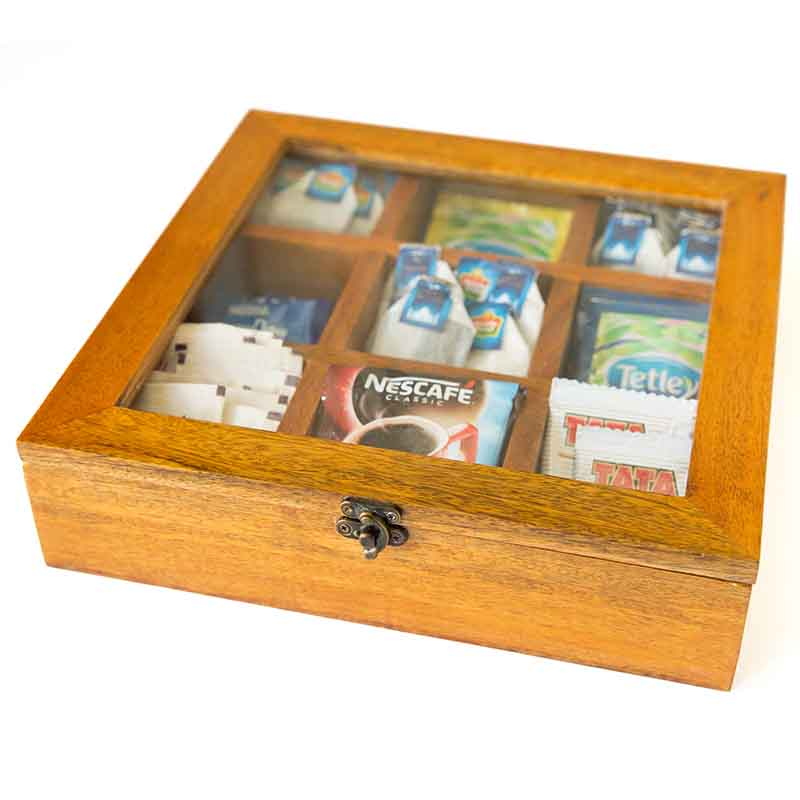 Olha-o Tea Box with Nine Compartments