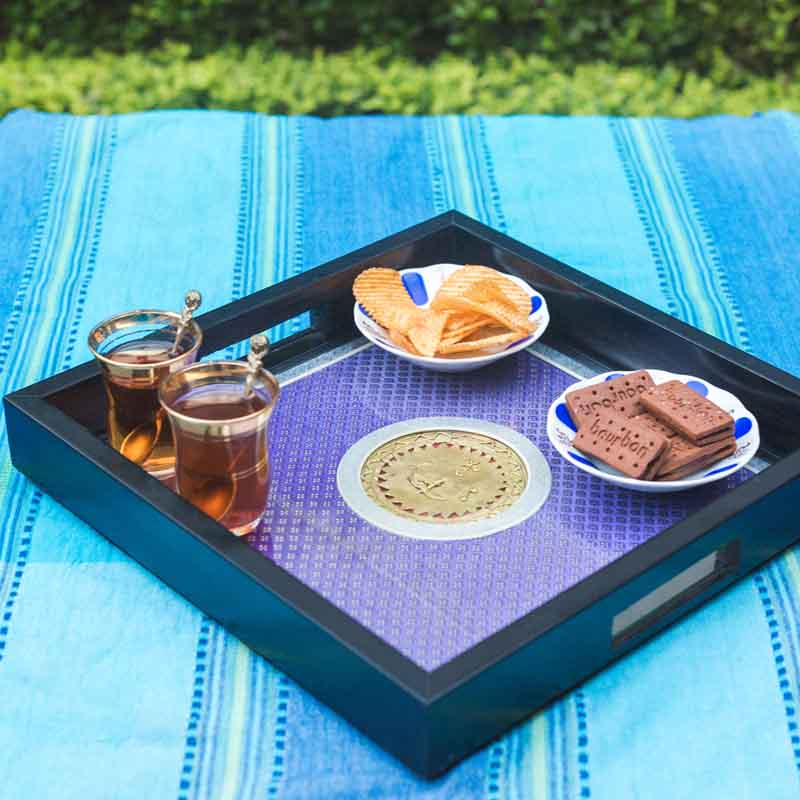 Olha-o Tribe Square Serving Tray
