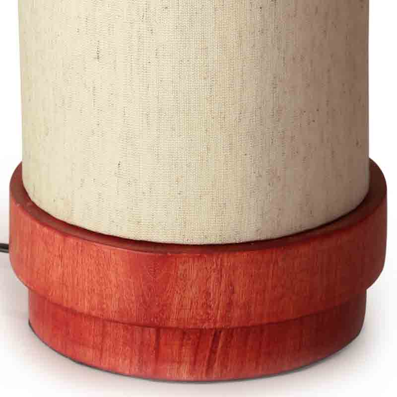 Moorni 14 Inch Wooden Lamp Turqouise Blue - EL-003-043