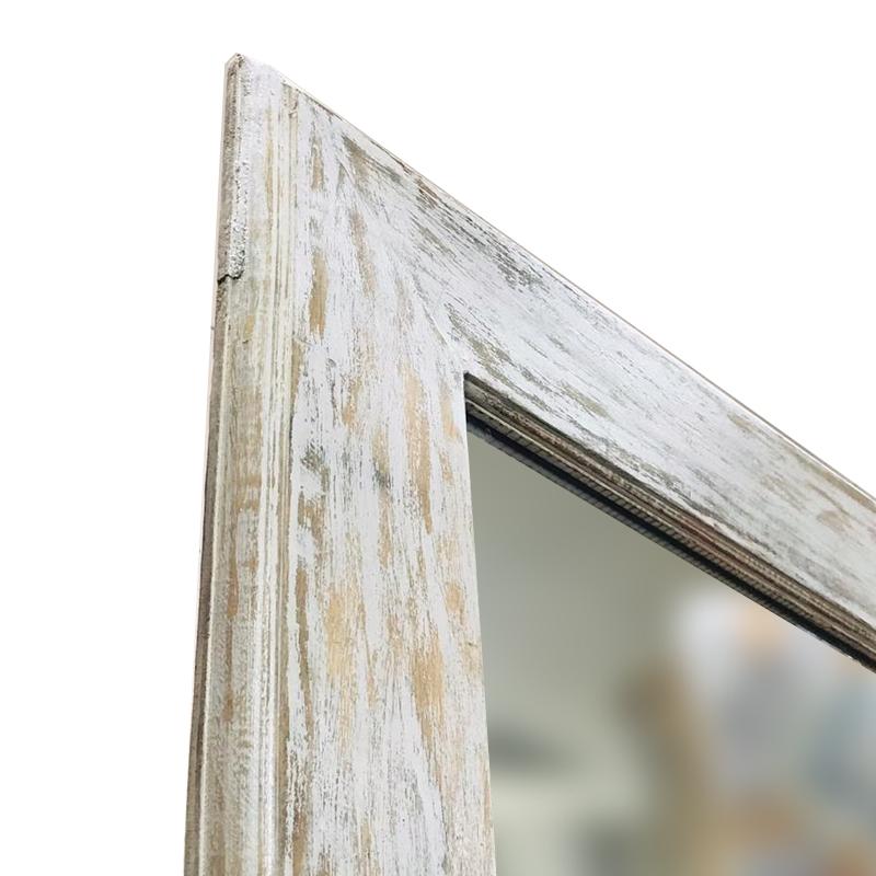 Moorni Seasoned Real Wood Large Wall Mirror Grey
