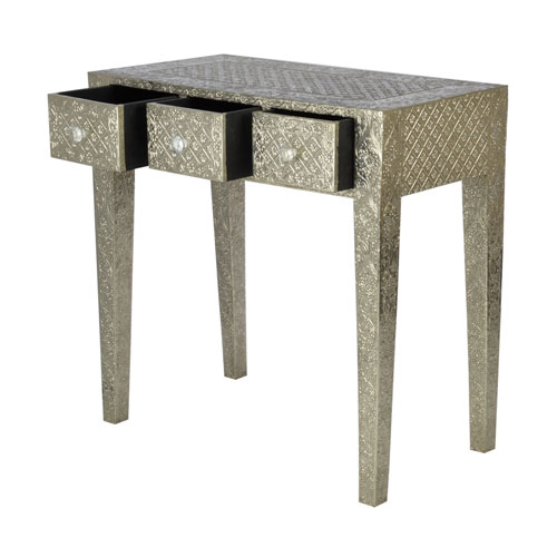 Glow Homes White Metal Table MBX-1