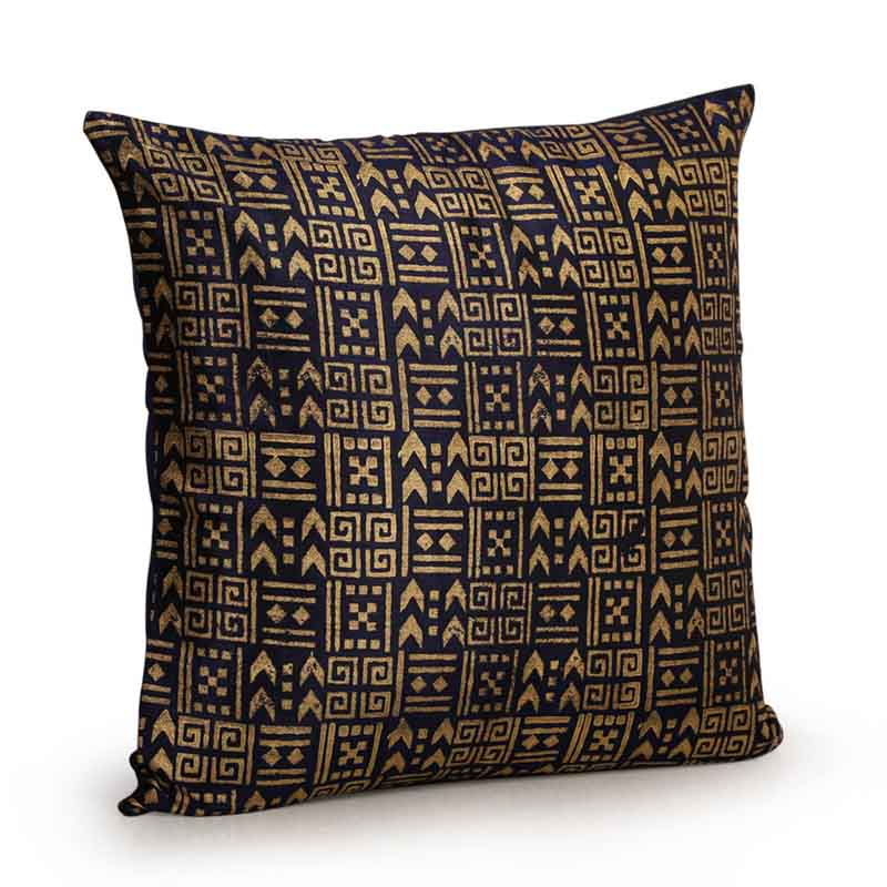 Moorni Handblock Printed Cushion Cover in Silk - Set of 5 - EL-026-230