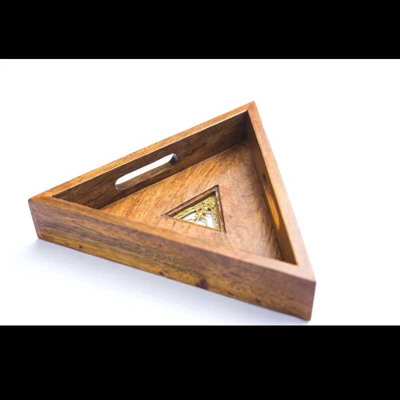 Wooden Triangle Tray