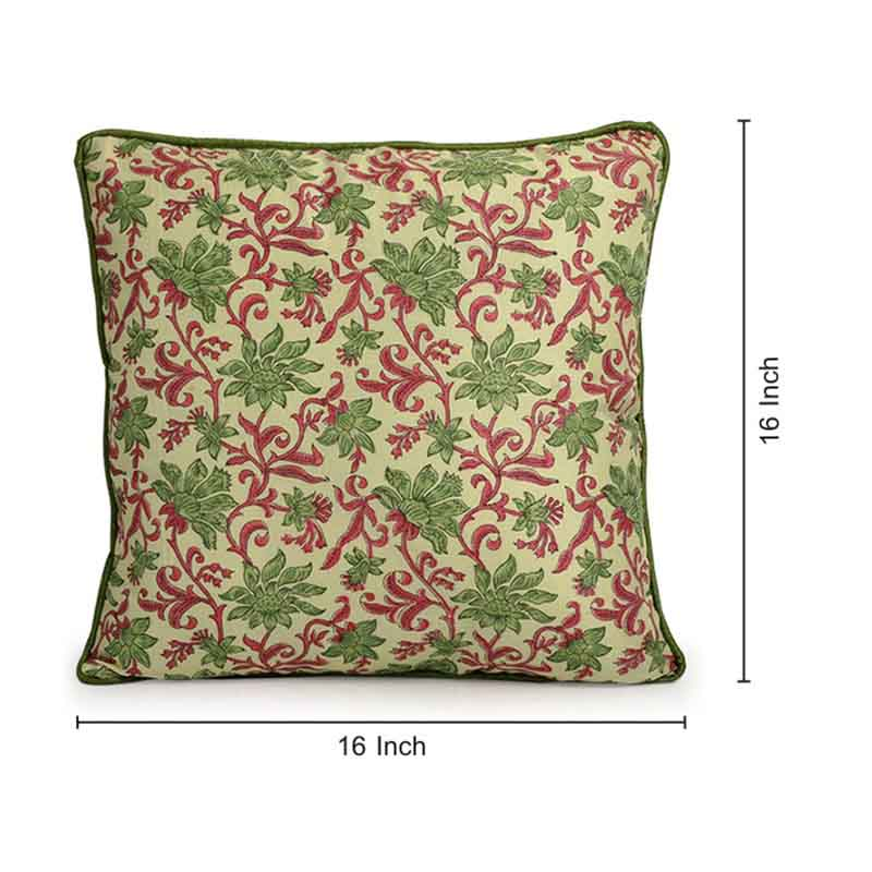 Moorni Hand Block Printing Cushion Cover in Cotton - Set of 6 - EL-026-329
