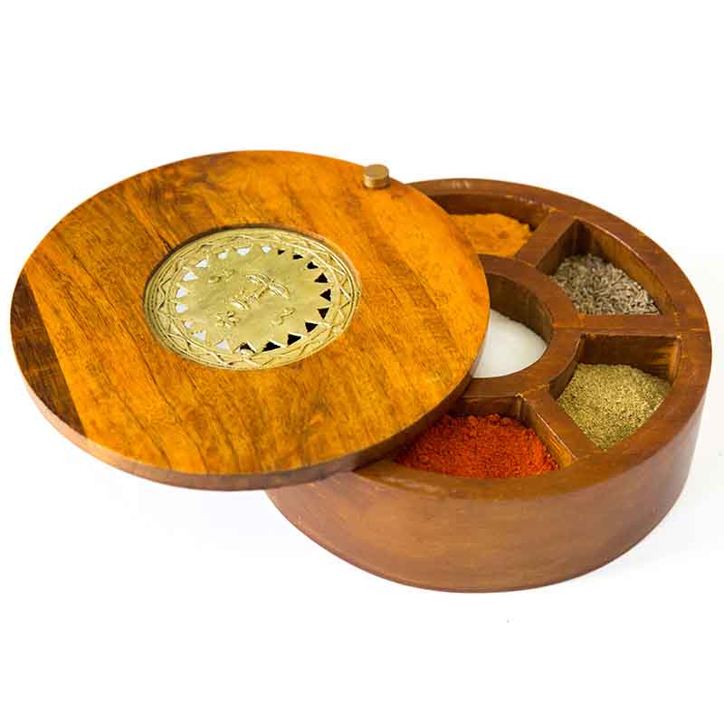 Olha-o Spice Serve-ware Box with Seven Compartments