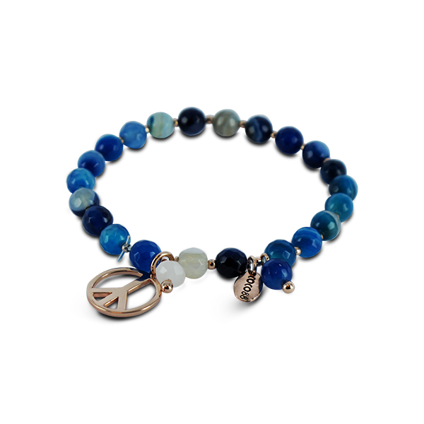 Coco88 Serenity Blue Natural Stones Agate collection Bracelet