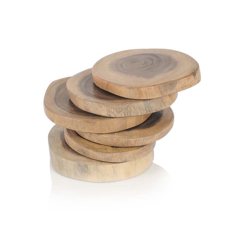 Moorni Fine Tree Cut Wooden Coasters Set Of 6