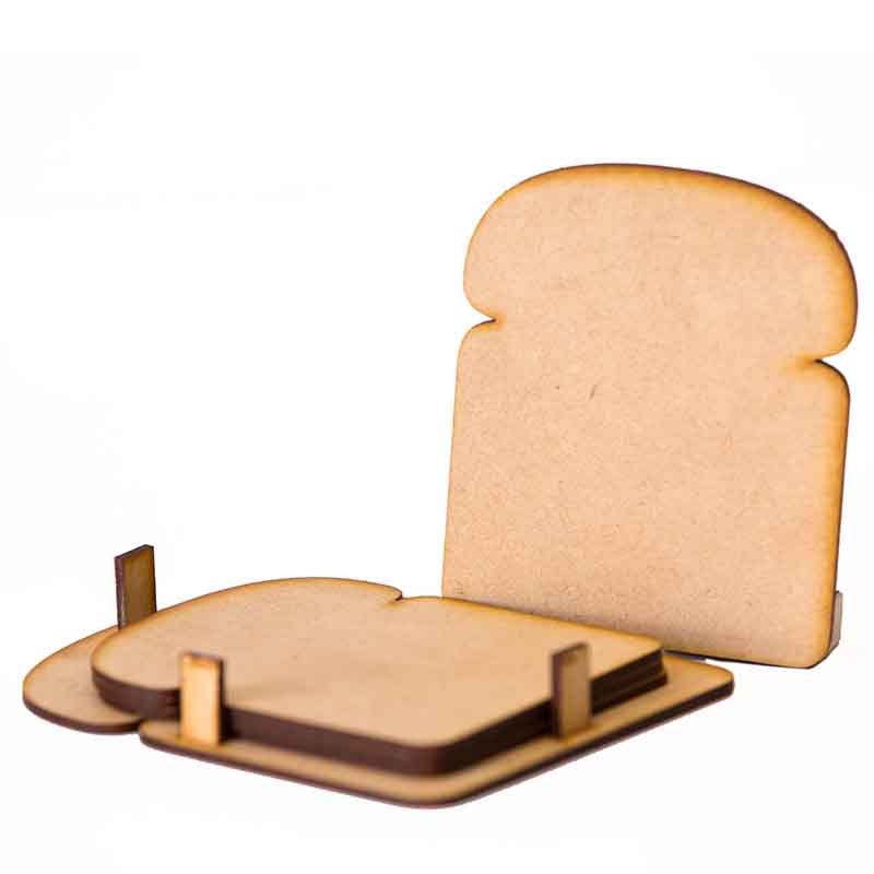 Olha-o Bread Shaped Coasters (Set of 4)