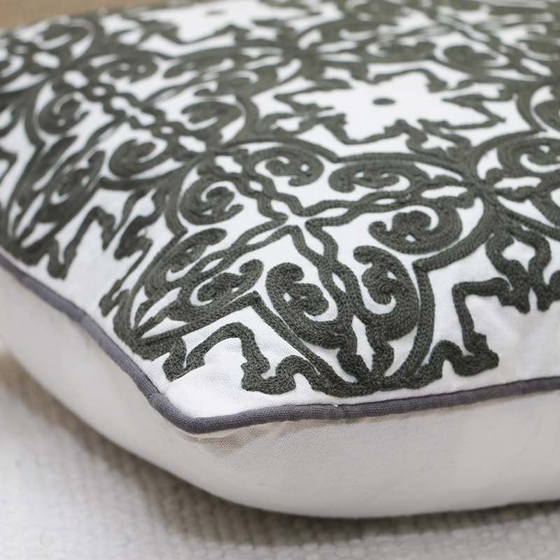 Moorni Cotton Cushion With Embroidery - TT-3463